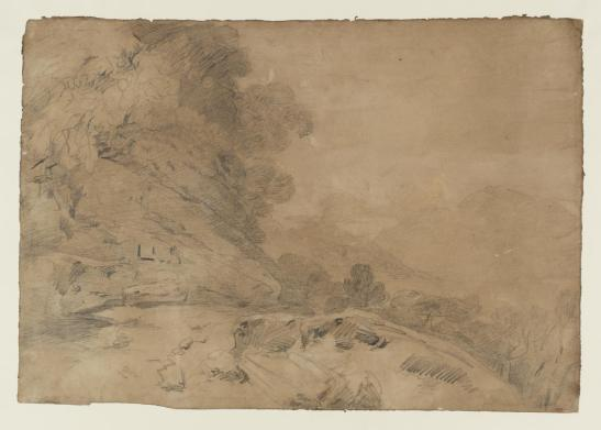 The Road along the Western Shore of Loch Lomond, with the Tablet to Colonel Lawless on a Rock, and Ben Lomond in the Right Distance beyond the Loch 1801 by Joseph Mallord William Turner 1775-1851