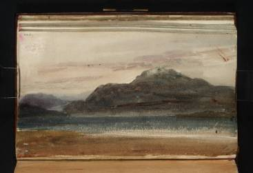 J.M.W.Turner Ben Lomond, Twilight, 1801 Watercolour on paper, 114 x 184 mm A page from the 'Scotch Lakes Sketchbook', Tate, London, D41243, Turner Bequest, TB LVI Image courtesy of Tate. To see this image in Tate's own online catalogue, click on the following link, and then use your browser's 'back' button to return to this page: http://www.tate.org.uk/art/artworks/turner-ben-lomond-twilight-d41243