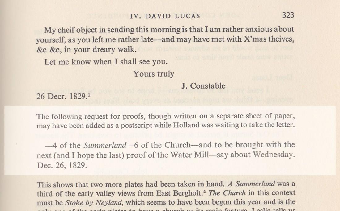 Beckett 1829 letter