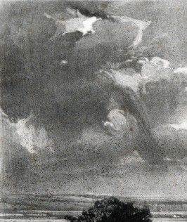 Newly-discovered impression, 2018 Detail of left part of sky