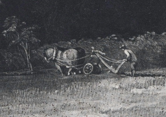 Newly-discovered impression, 2018 Detail of ploughman