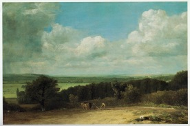 John Constable Landscape: Ploughing scene in Suffolk (A Summerland), 1814 Oil on canvas, 19 7/8 x 30 1/8 in, 505 x 765 mm Private Collection Post-restoration Image scanned from G Reynolds, The Early Paintings and Drawings of John Constable, 1996, pl.1095