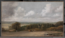 John Constable Ploughing Scene in Suffolk (A Summerland), 1824 to 1825 Oil on canvas, 16 3/4 x 30 inches (42.5 x 76.2 cm) Frame: 25 × 37 3/4 inches (63.5 × 95.9 cm) Yale Center for British Art, New Haven, USA, Paul Mellon Collection, B1977.14.41 Image courtesy of Yale Center for British Art
