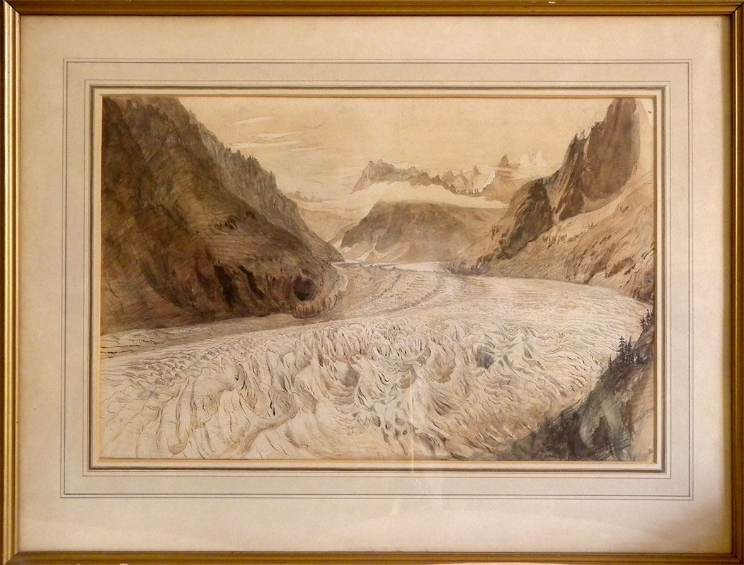 Ruskin Drawings At Kings College Cambridge 4 The Mer De Glace