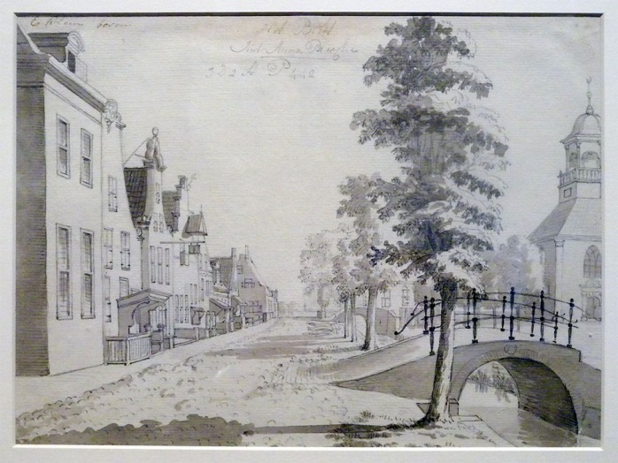 J Gardenier Visscher The village of Sint Annaparochie in Het Bilt Pen and ink on paper Collection Fries Museum Photo: David Hill, courtesy of Fries Museum