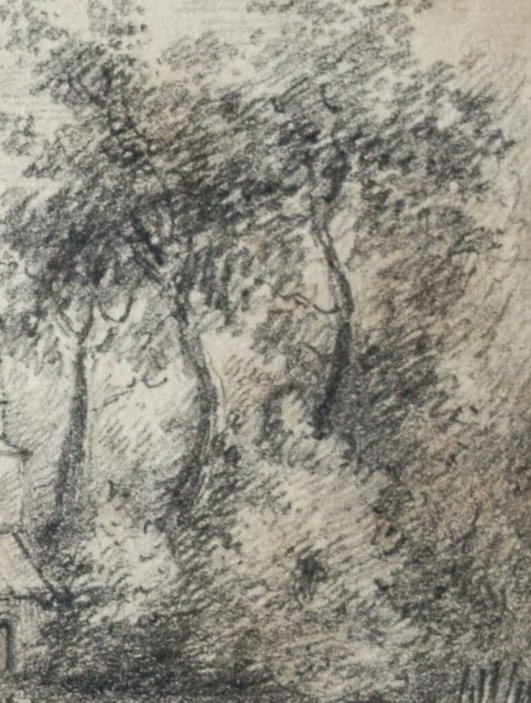 Little Casterton Church drawing ss detail trees